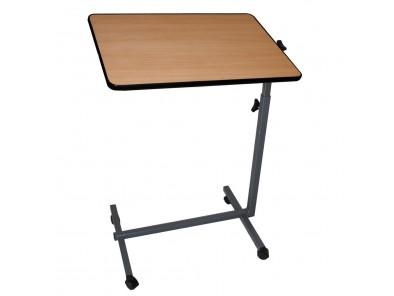Mesa auxiliar con ruedas para cama y sof color madera - Mesa auxiliar para cama ...